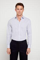 Cortefiel Camisa de vestir estampada tailored Azul