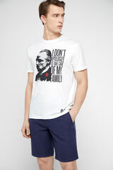 Cortefiel Camiseta El Padrino manga corta Blanco