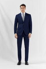 Cortefiel Americana pata de gallo tailored fit Azul