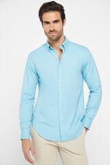 Cortefiel Camisa Oxford algodão Gobi Verde