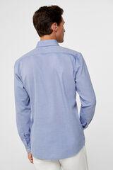 Cortefiel Camisa algodão gobi lisa Azul