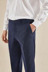 Cortefiel Pantalón traje azul slim fit Azul