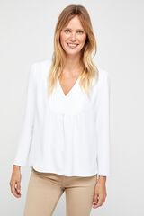 Cortefiel Blusa calidad confort Blanco