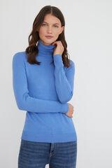 Cortefiel Camisola gola dobrada Azul