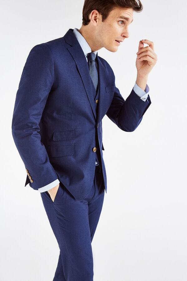 Cortefiel Americana slim fit Azul. Comprar bbef89d3bf4d