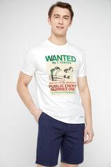 Cortefiel Camiseta Looney Tunes manga corta Blanco