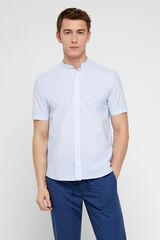 Cortefiel Camisa manga curta Azul