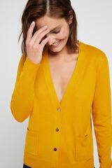 Cortefiel Casaco gola bico Amarelo
