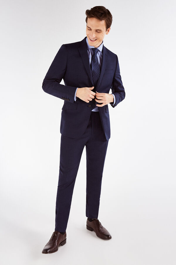 adde8bec25f31 Cortefiel Pantalón falso liso tailored fit Azul