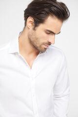 Cortefiel Camisa formal lisa classic Branco