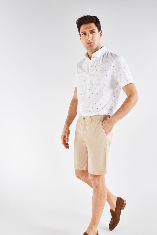 Cortefiel Bermuda lisa algodón Beige 5453b89565b