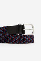 Cortefiel Cinturón trenzado textil Negro