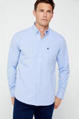 Cortefiel Camisa lisa Oxford Azul