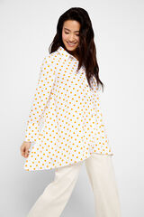 Cortefiel Camisa larga topos Amarillo