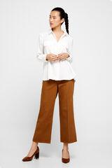 Cortefiel Camisa tecido reciclado Branco