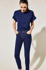 Cortefiel Jeans pitillo básico Azul