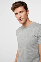 Cortefiel Camiseta interior lisa Gris