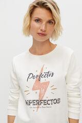 Cortefiel Sudadera Perfectos Imperfectos Branco