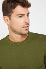 Cortefiel Jersey cuello caja Verde