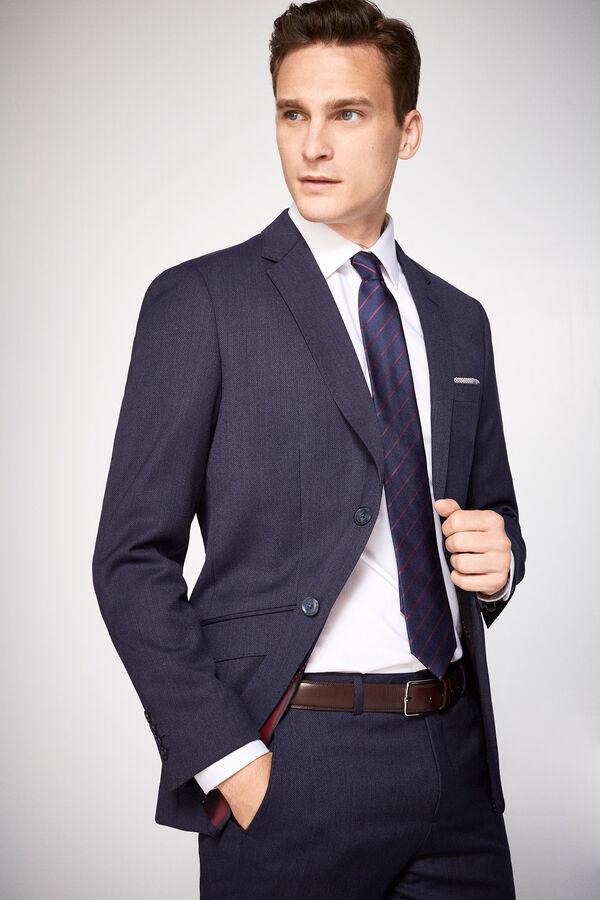 d9c23204e Cortefiel Americana traje slim fit Azul