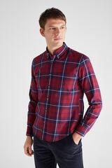 Cortefiel Camisa franela cuadros Rojo