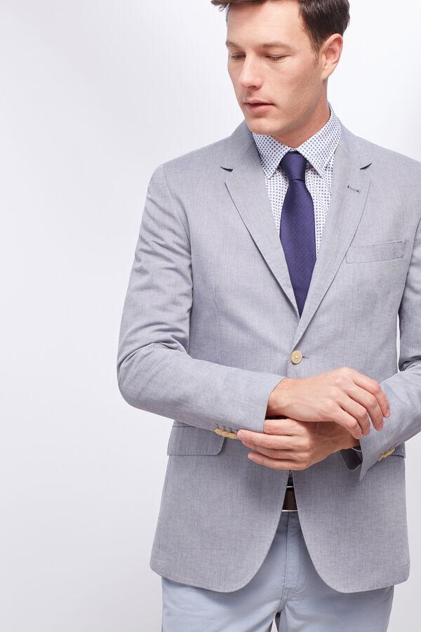 Cortefiel Americana traje slim fit Azul 9f4f3858ff4