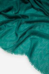 Cortefiel Fular monocolor zig-zag Verde