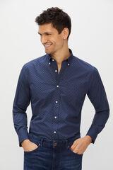Cortefiel Camisa estampada Azul