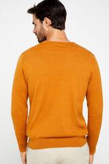 Cortefiel Jersey cuello pico Amarillo