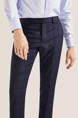 Cortefiel Pantalón cuadros slim fit Azul