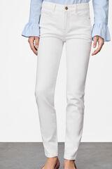 Cortefiel Jeans pitillo fit Blanco