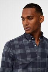 Cortefiel Camisa oxford cuadros Azul