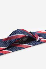 Cortefiel Corbata rayas regimentales Rojo