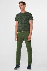 Cortefiel Pantalón 5 bolsillos slim fit Verde