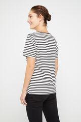 Cortefiel Camiseta Bugs Bunny algodón organico Negro