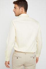 Cortefiel Camisa lisa algodão extra soft Easy care Amarelo