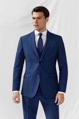 Cortefiel Americana traje azul slim fit antimanchas Azul