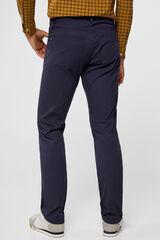Cortefiel Pantalón 5 bolsillos slim fit Azul