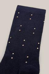 Cortefiel Calcetines con detalle de tachuelas Azul