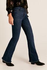Cortefiel Jeans boca-de-sino cintura alta Azul