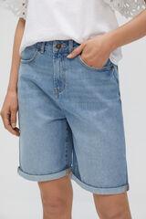 Cortefiel Bermuda Jeans fluída Azul