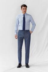 Cortefiel Pantalón azul grisaceo slim fit Azul