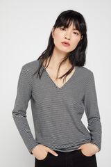 Cortefiel Camiseta pico tacto suave Varios