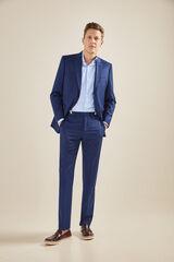 Cortefiel Pantalón traje estructura tailored fit Azul