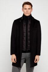 Cortefiel Abrigo cuello tira con vistas desmontables Negro