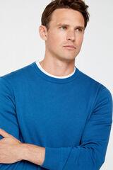 Cortefiel Jersey cuello caja Azul