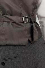 Cortefiel Chaleco traje gris slim fit antimanchas Gris