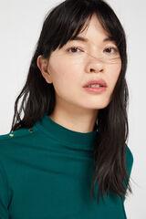 Cortefiel Camiseta perkins algodón orgánico Verde