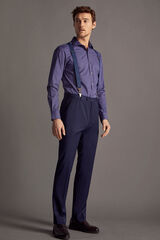 Cortefiel Pantalón traje liso tailored fit Azul