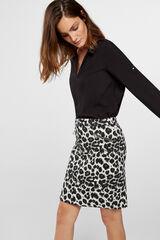Cortefiel Falda de jacquard de leopardo Estampado
